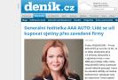 Deník.cz: Generální ředitelka AAA AUTO: Lidé se učí kupovat ojetiny přes zavedené firmy