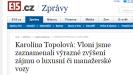 Karolína Topolová: Vloni jsme zaznamenali výrazné zvýšení zájmu o luxusní či manažerské vozy