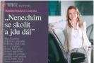 """Corporate Journal: Karolína Topolová o sobě říká: """"Nenechám se skolit a jdu dál"""""""