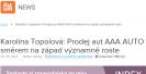 ČIAnews.cz: Karolína Topolová: Prodej aut AAA AUTO směrem na západ významně roste
