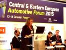 Karolína Topolová vystoupila na Central & Eastern European Automotive Forum 2015