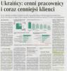 Rzeczpospolita: Ukraińcy: cenni pracownicy i coraz cenniejsi klienci