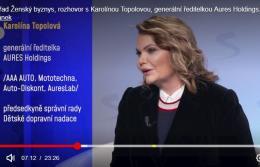 Seznam.cz TV:  Rozhovor s generální ředitelkou AURES Holdings Karolínou Topolovou