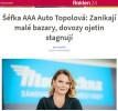 Rozhovor na roklen24.cz: Šéfka AAA Auto Topolová: Zanikají malé bazary, dovozy ojetin stagnují