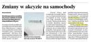 Gazeta Krakowska: Zmiany w akcyzie na samochody